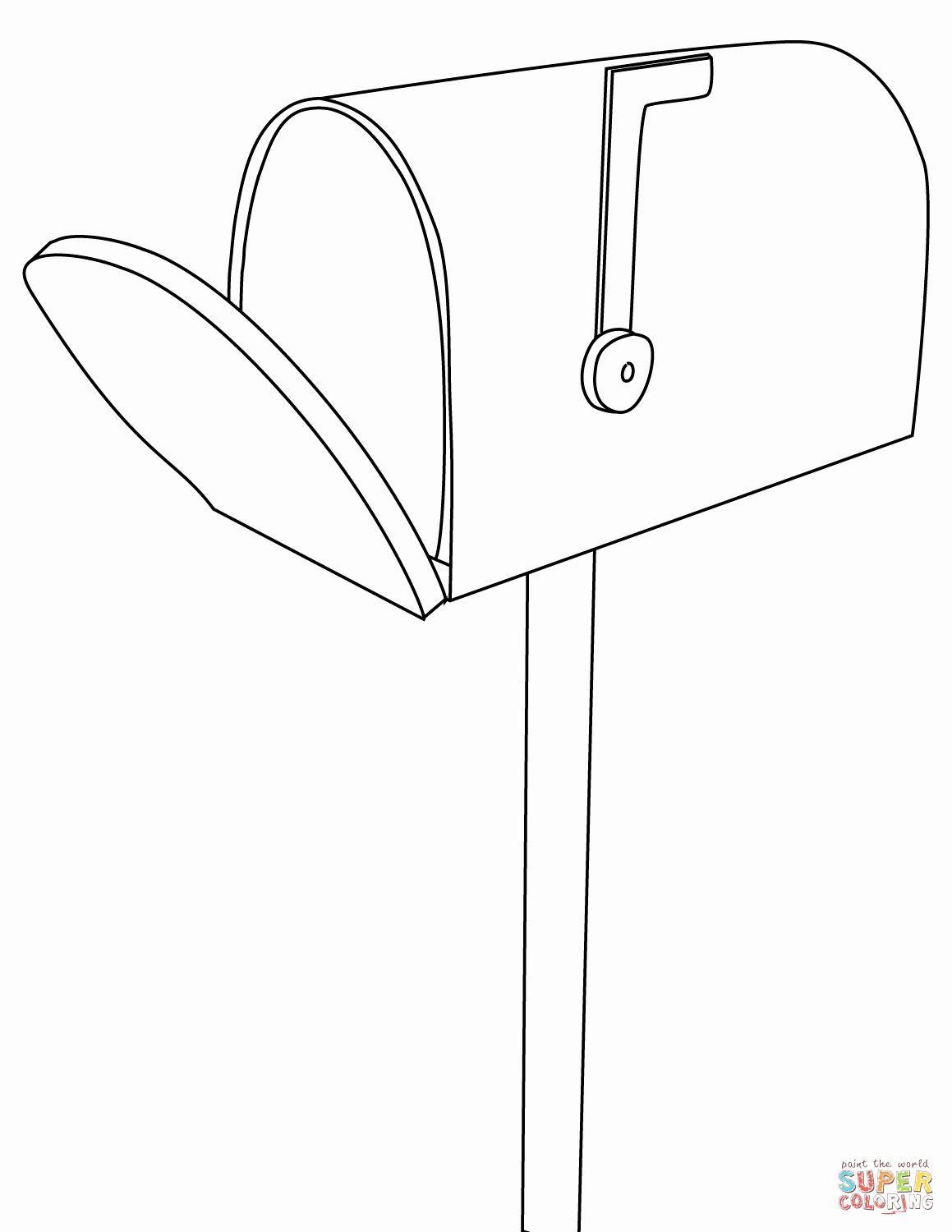 Free Coloring Books By Mail Fresh Mailbox Coloring Page Kids Coloring Books Coloring For Kids Coloring Books