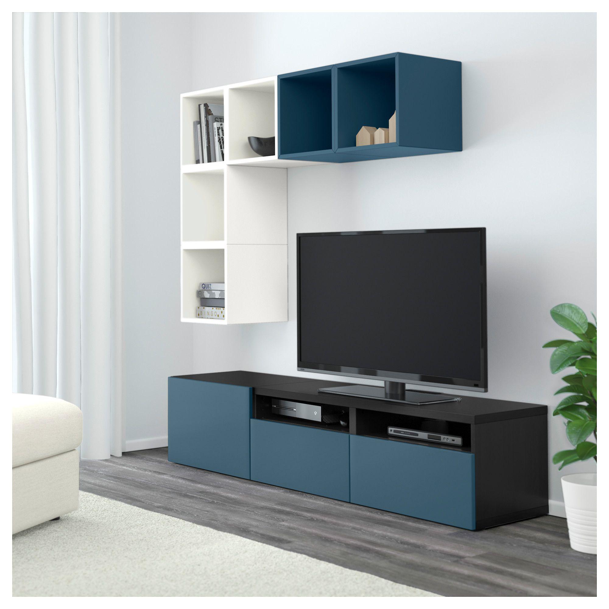 Ikea Besta Eket Tv Storage Combination White Black Brown Dark