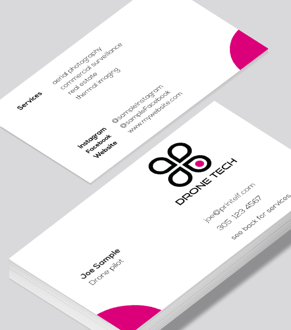 Drone Thermal Imaging Business Card Modern Design Modern Business Cards Design Business Card Modern Free Business Card Design