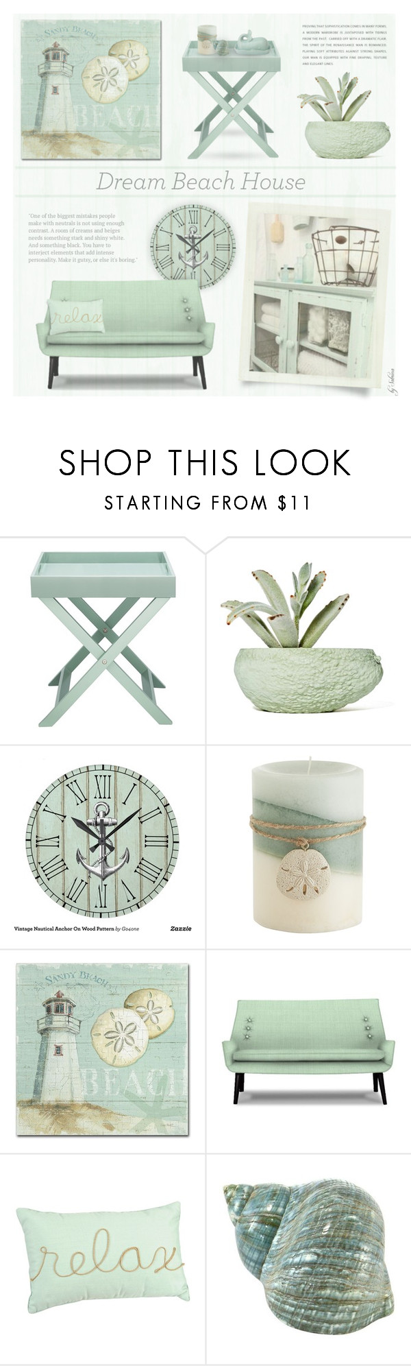"""""""201. Dream Beach House"""" by xiandrina ❤ liked on Polyvore featuring interior, interiors, interior design, home, home decor, interior decorating, Chen Chen & Kai Williams, Pier 1 Imports, Trademark Fine Art and Jonathan Adler"""