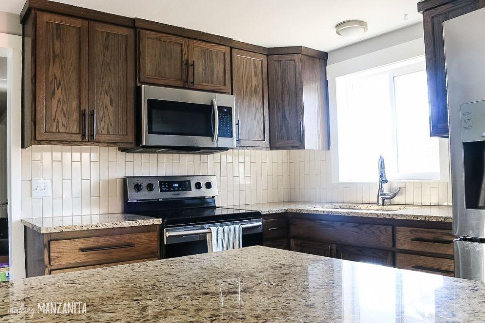 How to remove kitchen backsplash tile faux brick