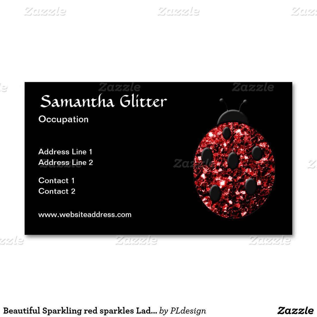Beautiful Trendy Sparkling Red sparkles Ladybug Ladybird Black ...