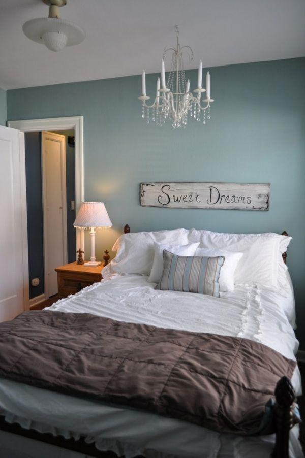 schlafzimmer bett wandfarbe blau | mein zuhause ❤ | pinterest