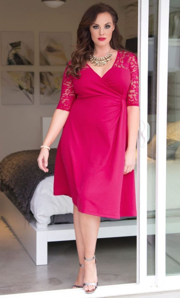 33 Plus Size Wedding Guest Dresses {with Sleeves}! - Alexa ...