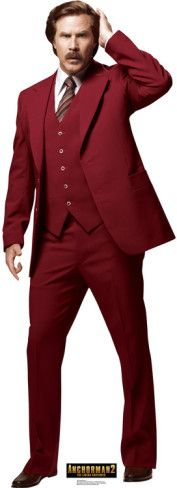 Anchorman 2: The Legend Continues - Ron Burgundy Lifesize Standup Poster Stand Up at AllPosters.com