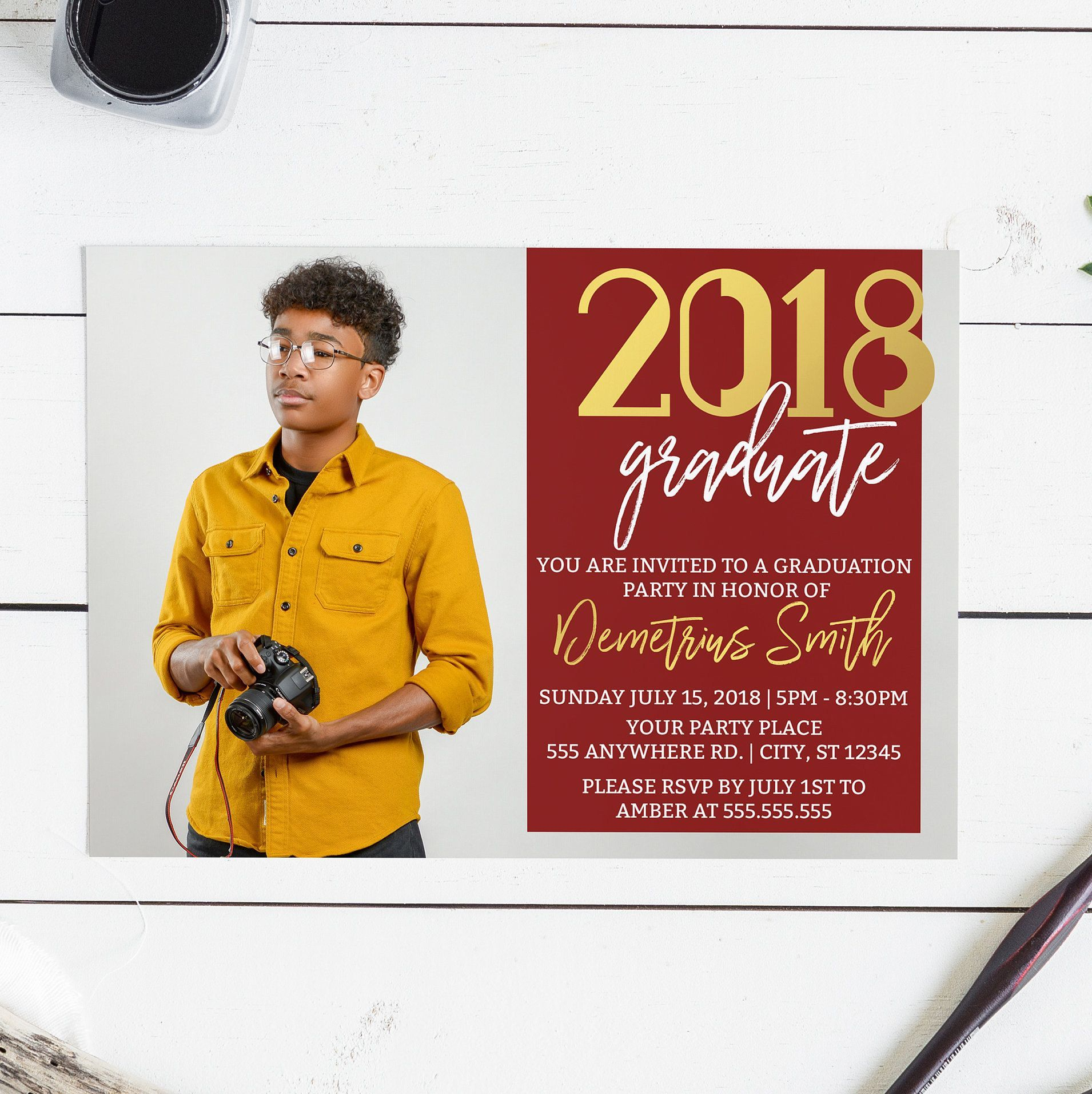 Custom graduation announcement. Order your custom invitation at ...