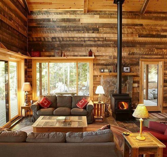 32 Amazing Examples Of Cabin Decor Cabin Living Room Lodge Style Living Room Cabin Interiors