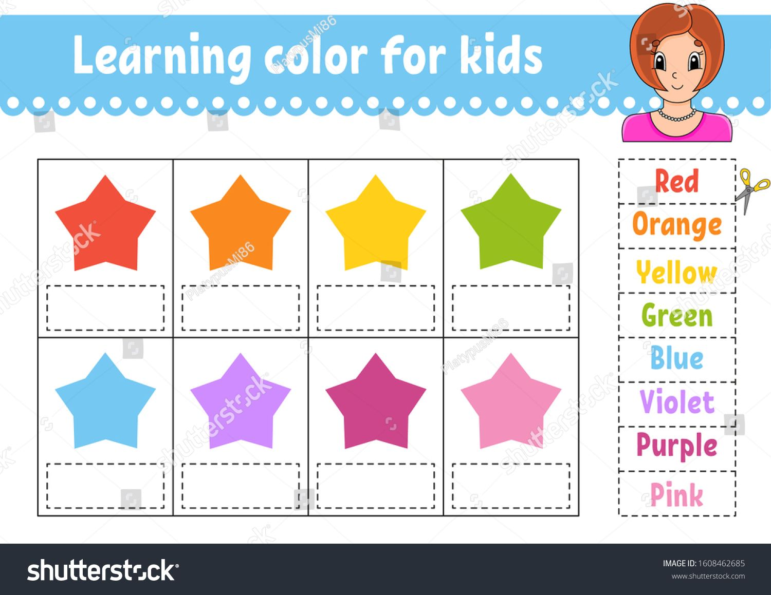 Learning Color For Kids Education Developing Worksheet