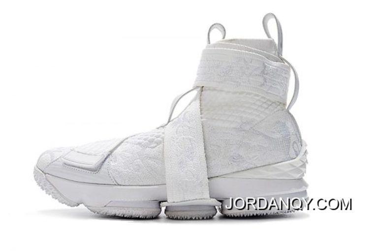 "3e986b91c403 KITH X Nike LeBron 15 Lifestyle City Of Angels ""Triple White"" Men s ..."