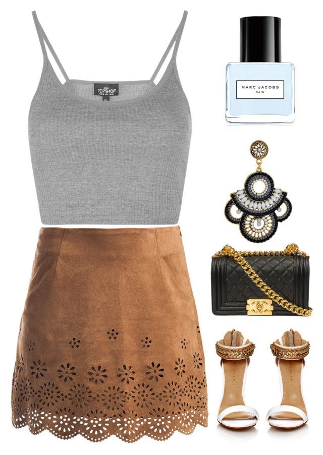 """""""Rain. """" by orpitaazmiri ❤ liked on Polyvore featuring Topshop, Sans Souci and Marc Jacobs"""