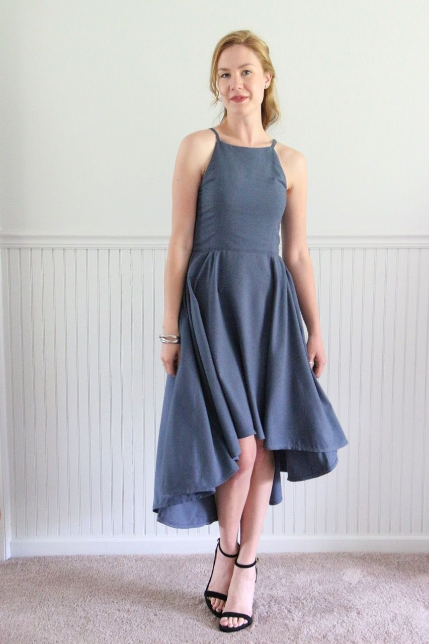 Slate blue bridesmaid dress vogue 9252 in silk noil slate slate blue bridesmaid dress vogue 9252 by palindrome dry goods ombrellifo Images