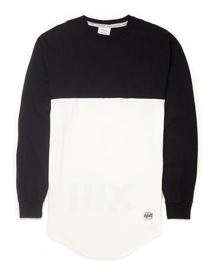 Black White Long Sleeve Shirt Gommap Blog Clothes Long Sleeve
