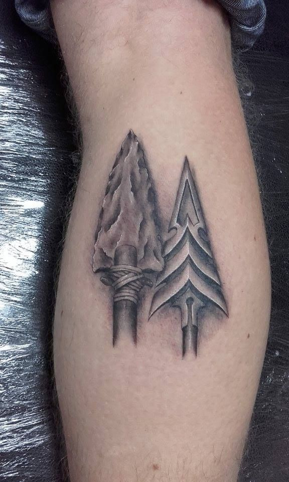 Two realistic arrow heads done by David   Tattoos by David ...