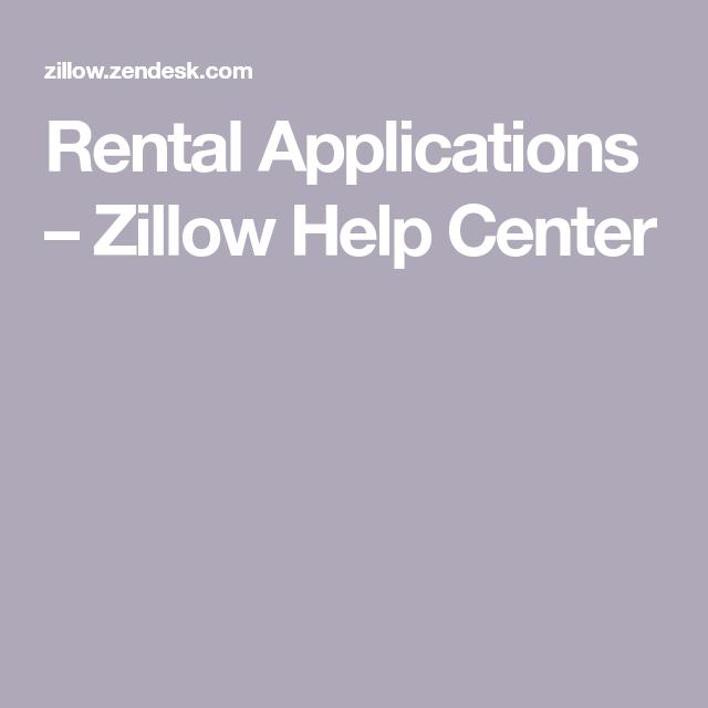 Rental Applications Zillow Help Center Rental application