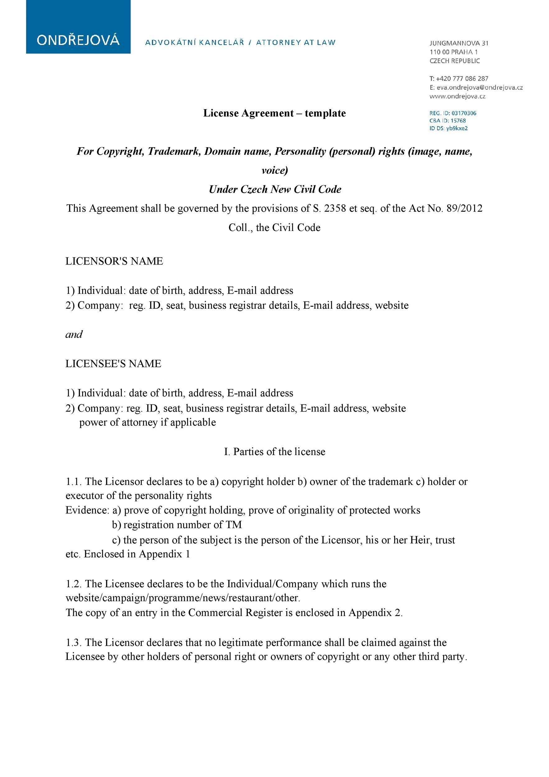 Brand Licensing Agreement Template Free Printable In 2021 Templates Templates Printable Free Document Templates Missouri llc operating agreement template
