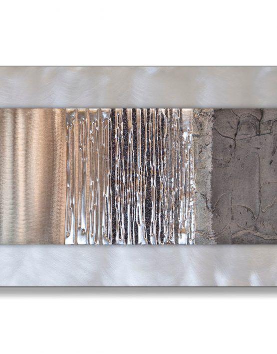 Echo Oak Grey Silver Wall Art Contemporary Art Uk Silver Wall