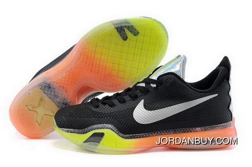 Nike Kobe 10 2015 Black Yellow Mens Shoes Free Shipping