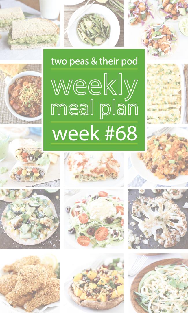 Weekly Meal Plan {Week 68} (Two Peas & Their Pod)
