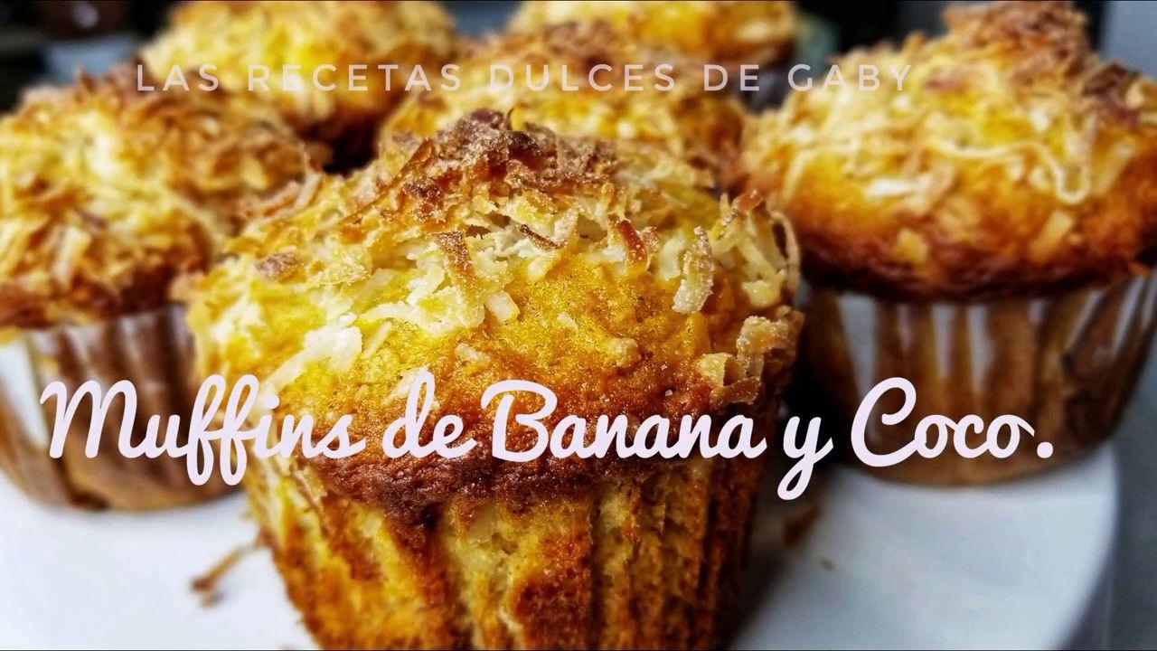 Como Hacer Muffins de Banana y Coco.  #002 😋💖
