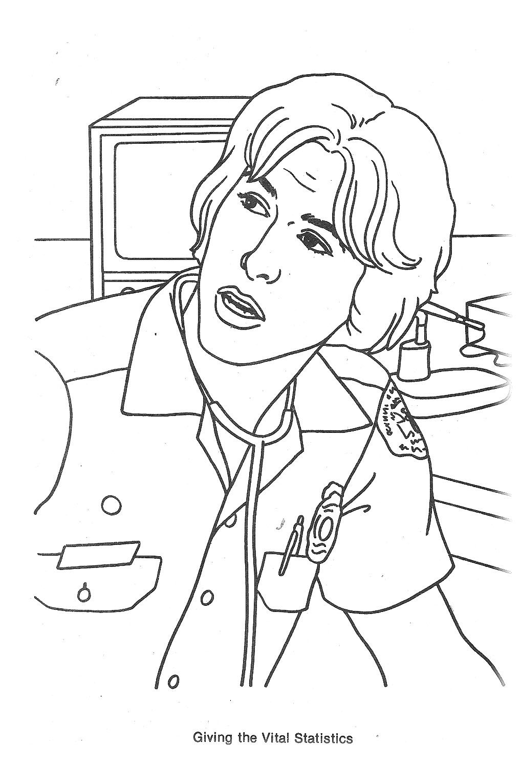 Emergency TV Show Coloring Pages Randolph mantooth