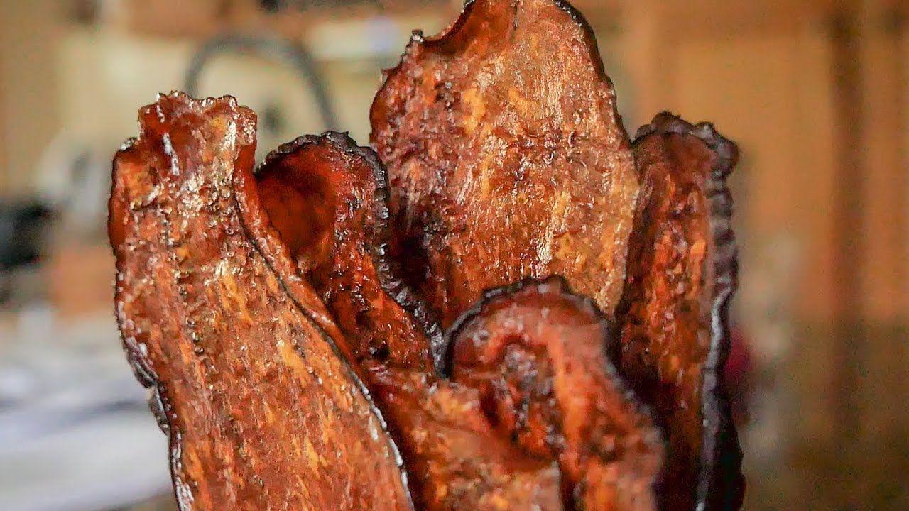 How To Make Eggplant Jerky Vegan Vegetarian Bacon Dehydrator Recipes Vegan Jerky