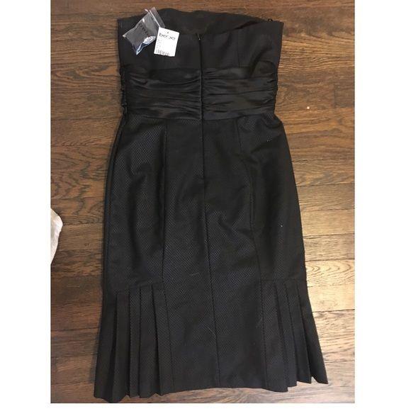 Bebe little black dress Silk bow under chest, pleating on bottom, little black dress great for any occasion. bebe Dresses Strapless