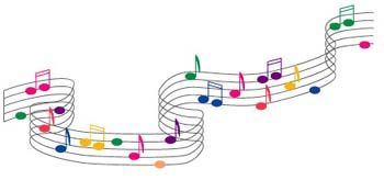 colored music notes i got the music in me