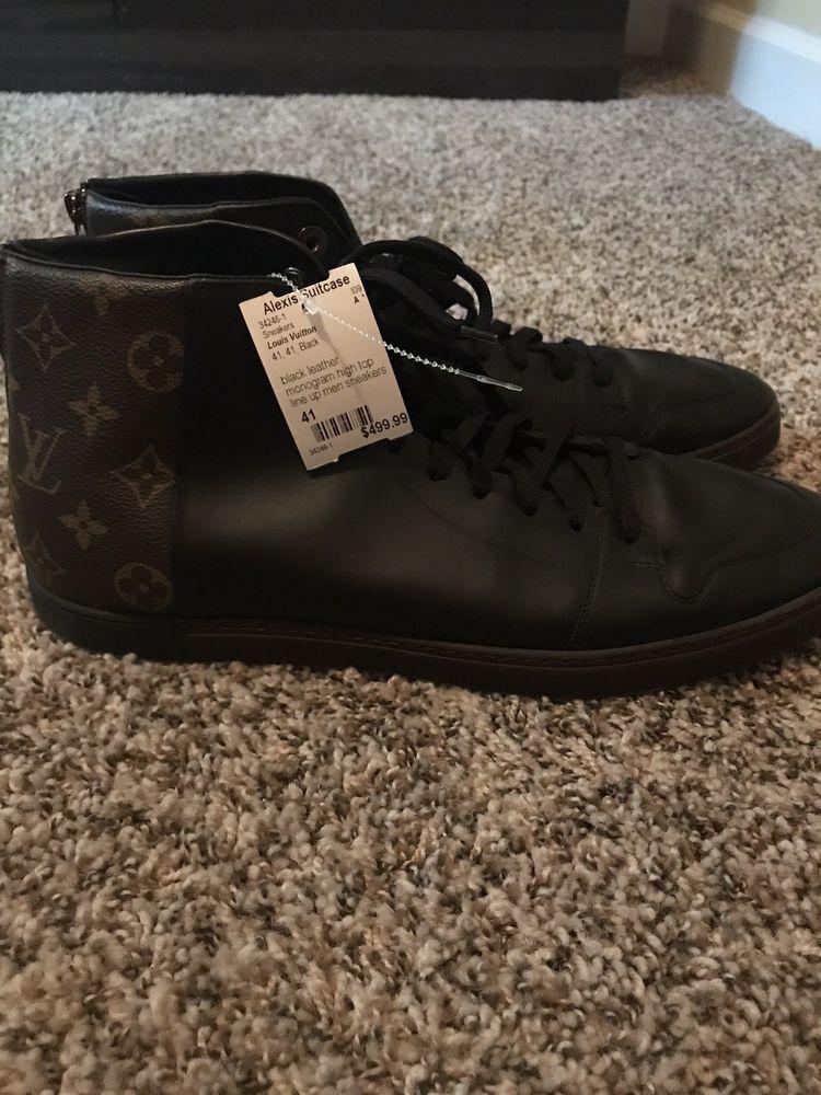 d8a185530a152 100% Authentic Louis Vuitton Damier high-top Brown sneaker #fashion ...