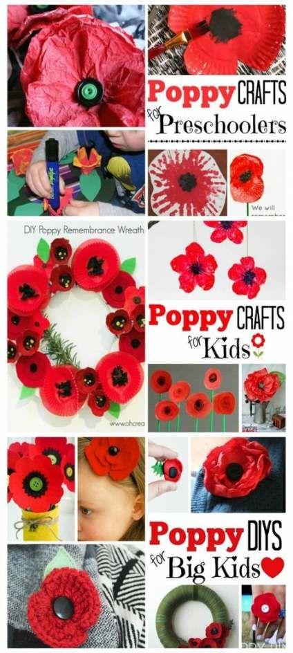 Flowers Crafts For Kids Poppy 58+ Super Ideas #poppycraftsforkids