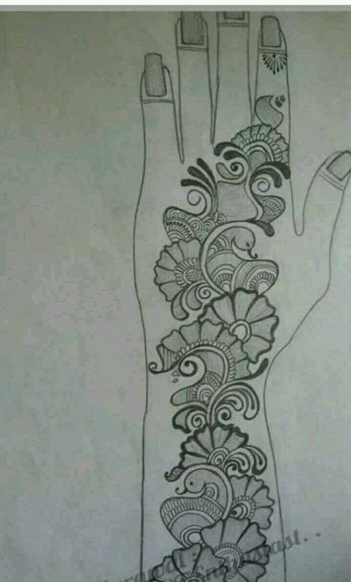 arabic mehndi designs on paper