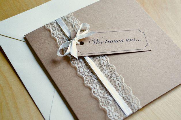 Einladung Zur Hochzeit Vintage Quadratisch