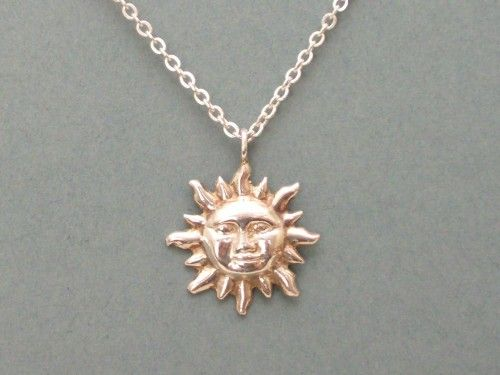 Sterling silver sun necklace made in usa handcrafted by silver sterling silver sun necklace mozeypictures Image collections