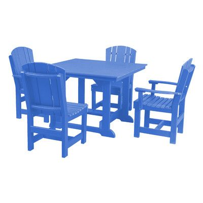 Little Cottage Company Heritage 5 Piece Dining Set Finish: Blue
