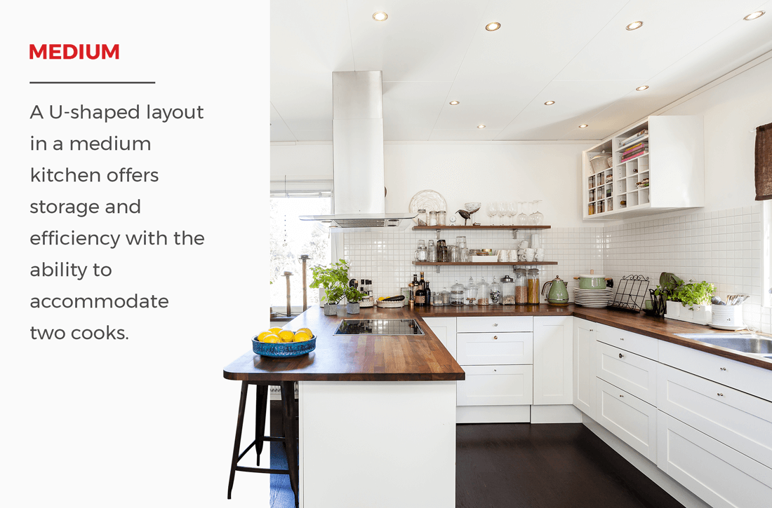 medium u shaped kitchens can fit two cooks comfortably so if you like to cook with a friend or on kitchen ideas u shaped layout id=99372