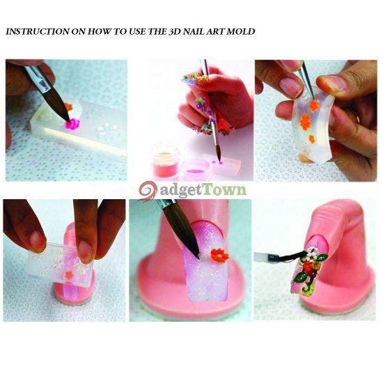 Diy 3d Nail Art Shellfish 3d Acrylic Nail Art Mold Diy