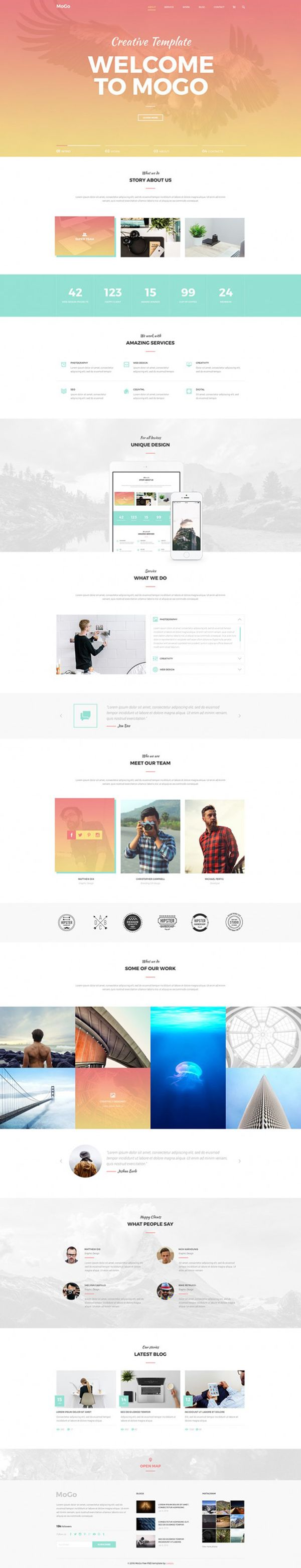 the mogo photoshop website template design bies the mogo photoshop website template