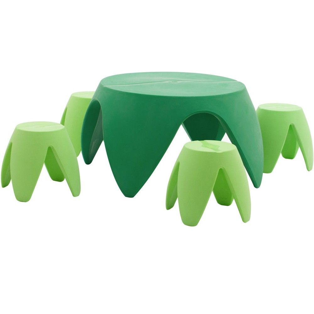 Miraculous Ecr4Kids Blossom Table And Stool Furniture Set For Children Onthecornerstone Fun Painted Chair Ideas Images Onthecornerstoneorg