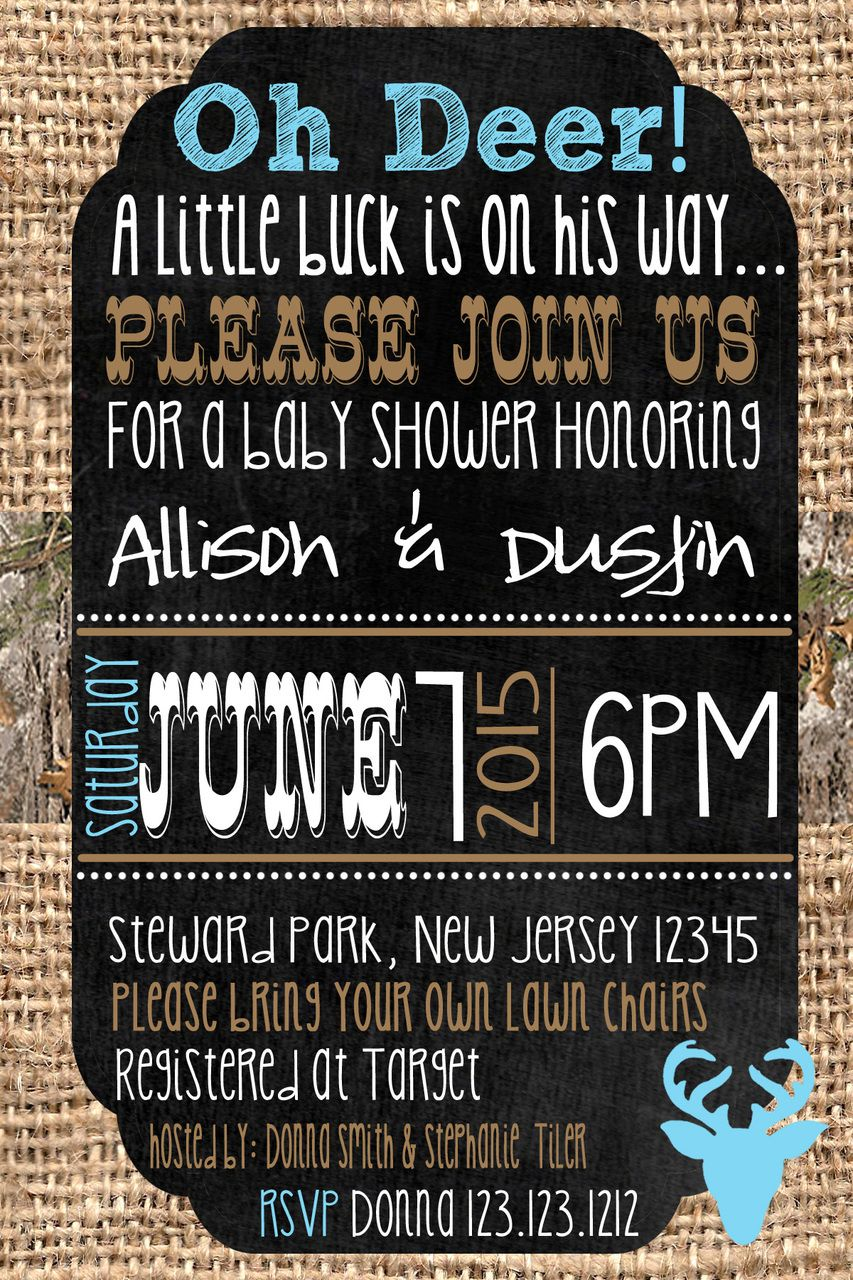 Camouflage Baby Shower Invitations | Shower invitations, Camouflage ...