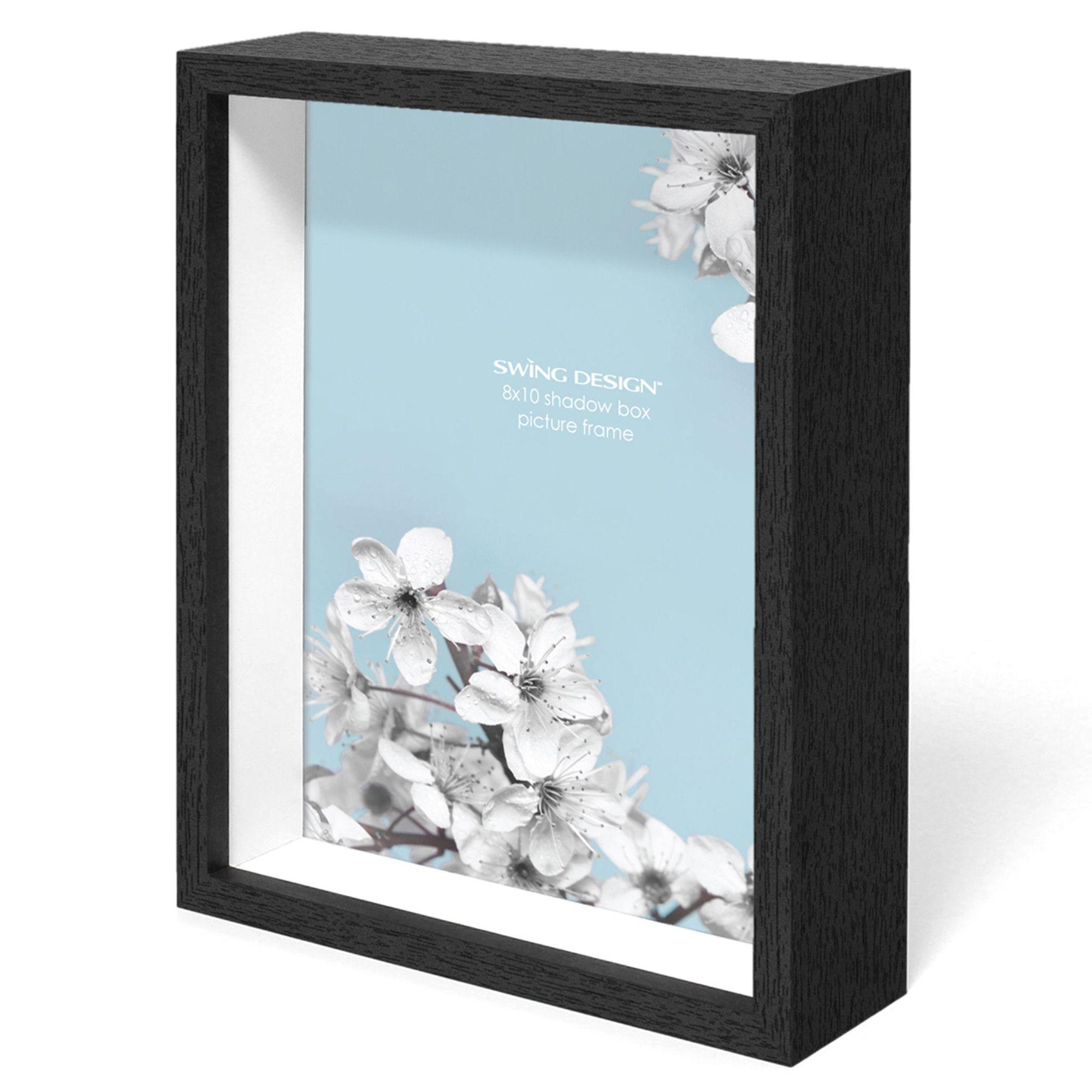 Chroma Shadow Box Frame Black 8x10 - Swing Design