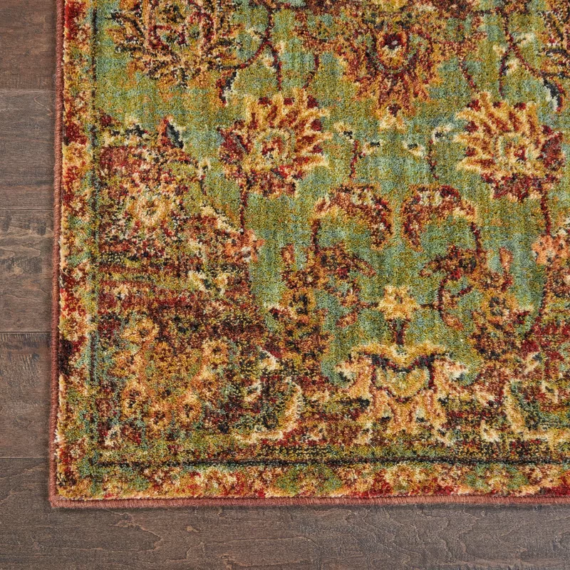 Dufresne Green Red Yellow Area Rug In 2020 Yellow Area Rugs