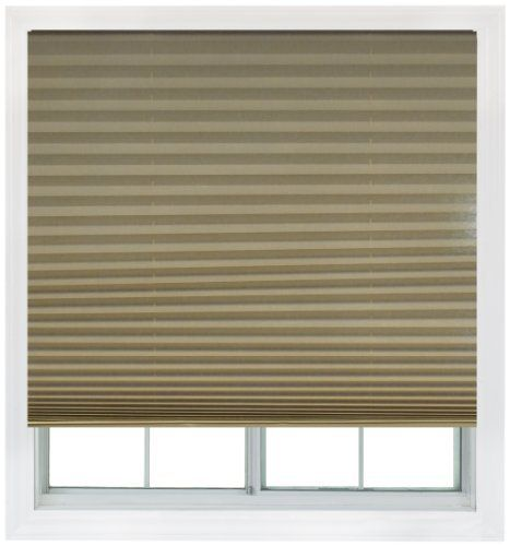 Easy Lift 48 Inch By 64 Inch Trim At Home Fits Windows 28 Inches To 48 Inches Wide Cordless Pleated Sh Cordless Pleated Shades Cordless Shade Pleated Shade