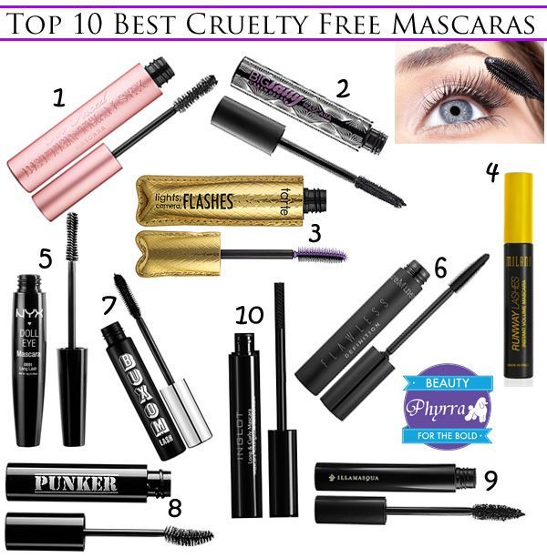 top 10 best cruelty free mascaras les animaux coiffures et yeux. Black Bedroom Furniture Sets. Home Design Ideas