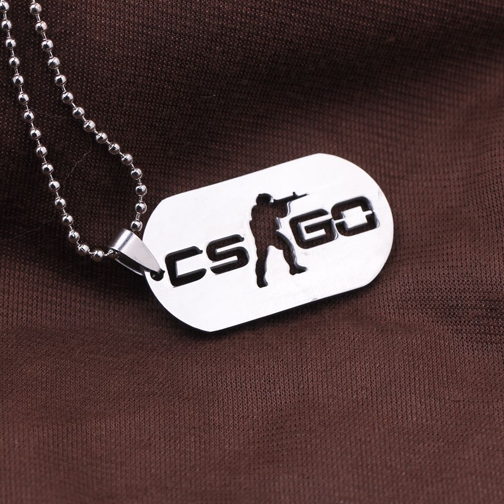Games Cs Go Stainless Steel Link Necklace For Men Csgo Anime Neckless Male Collier Homme Best Friends Statement Bijoux Jewelry In Pendant Necklaces From Jewelry