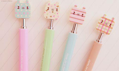 Cute pastel, asian cat stationary