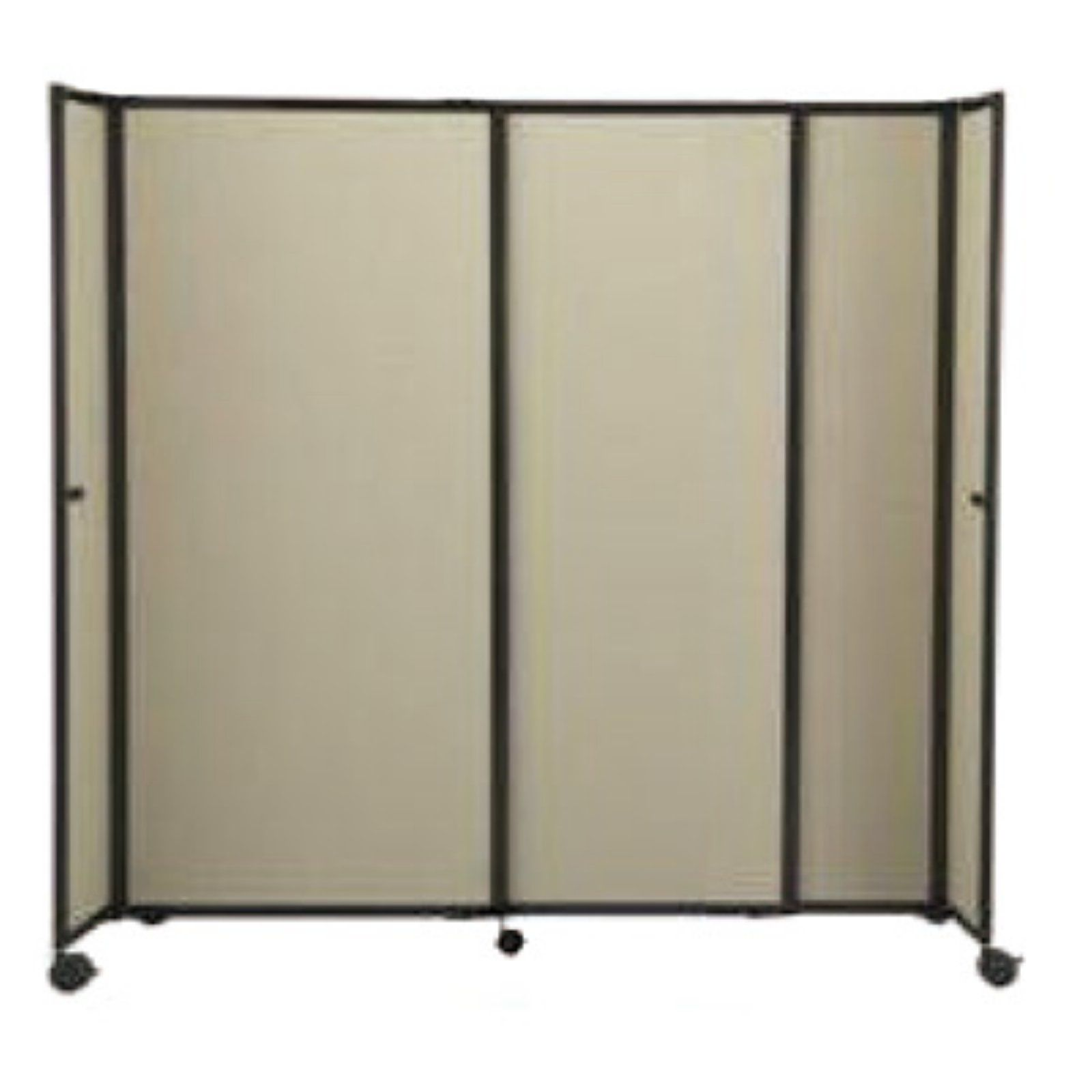 Versare 7 Foot 2 Inch Wide Straightwall Mobile Accordion Room Divider 360 Temporary Room