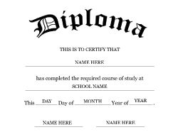 Free Middle School Diploma Templates| Geographics  Free College Diploma Template