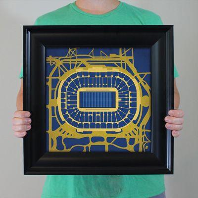 Notre Dame Stadium City Prints Map Art Map Art City Prints Prints