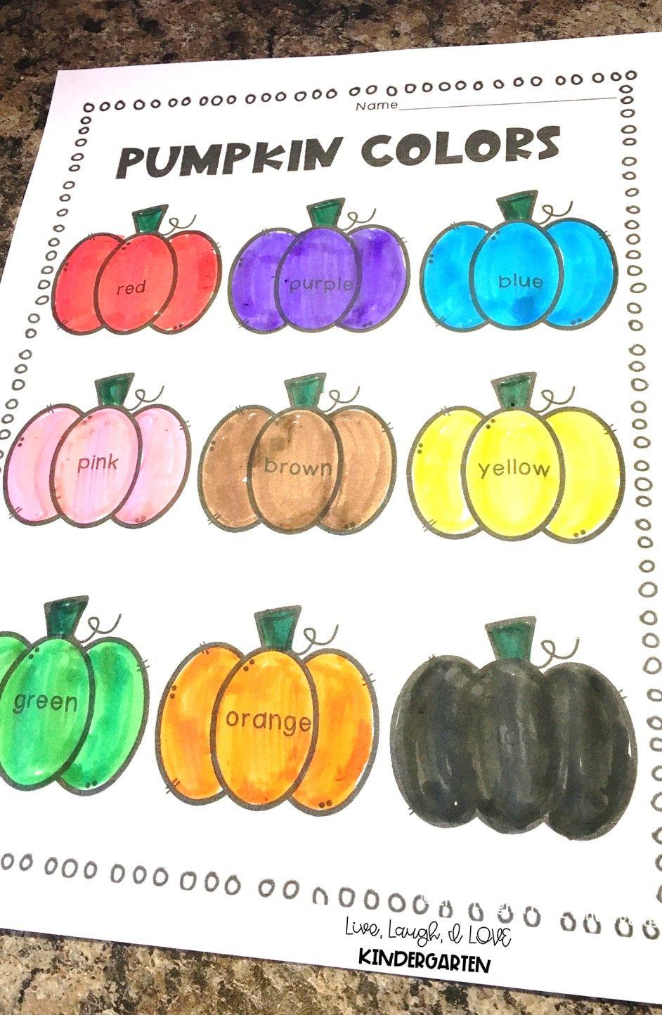 Pumpkin Colors Pumpkin Colors Color Activities October Activities [ 1444 x 942 Pixel ]