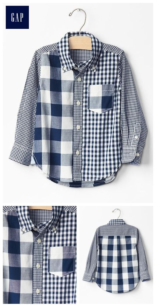 Mix-plaid shirt