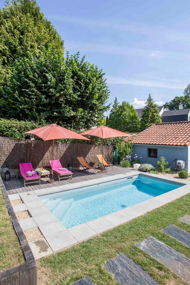 Prix Piscine Aquilus Mini Water piscine extérieure de 4 x8 m, liner blanc, accès simple